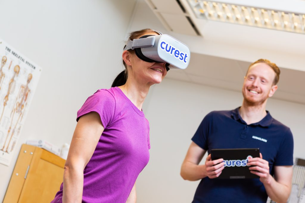 Sports professionals are being treated for neck & head trauma using VR